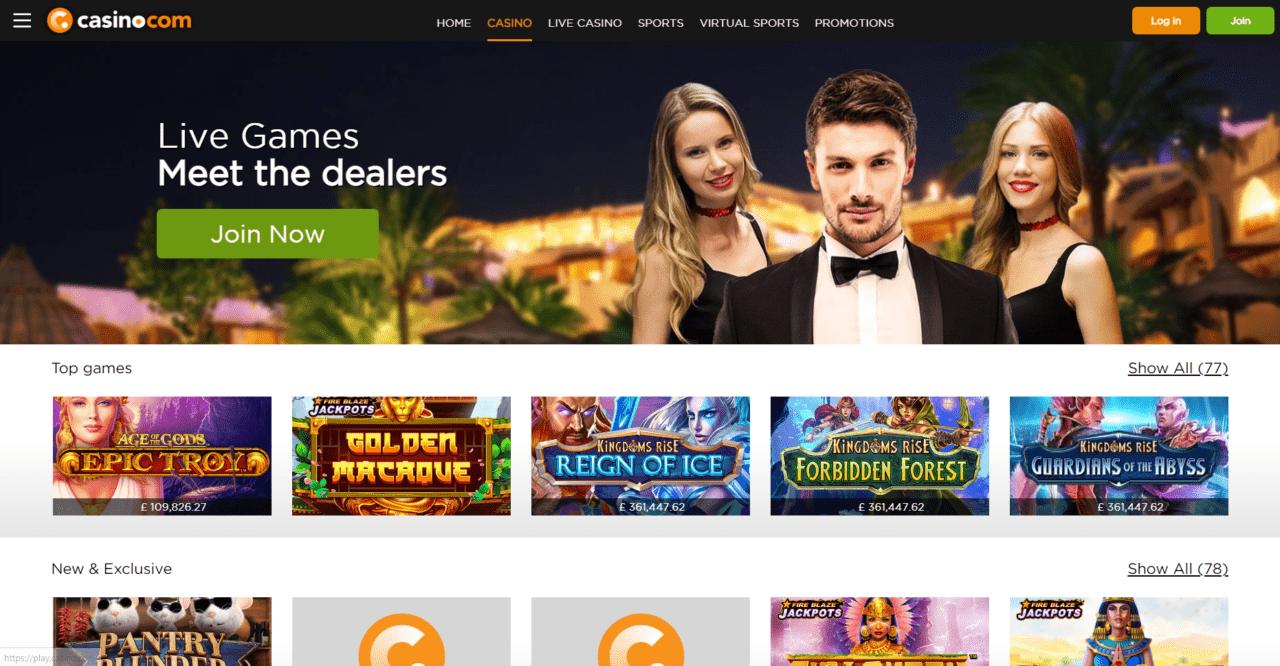 Casino.com Games Desktop