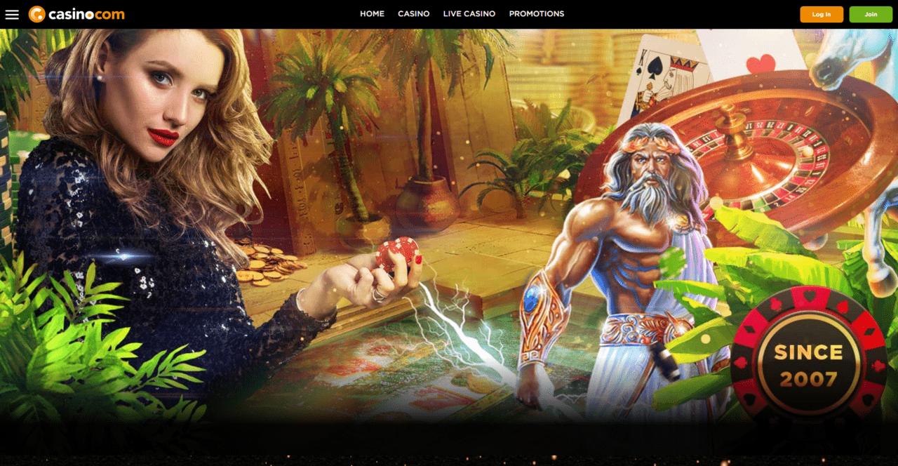 Casino.com home page desktop
