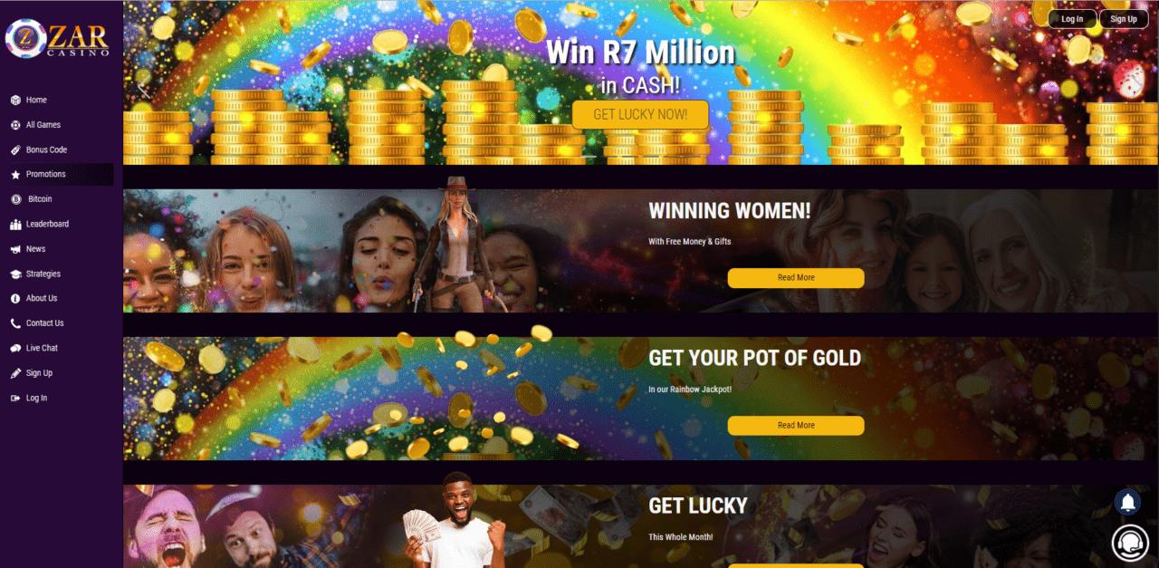 ZAR Casino Promotions Desktop