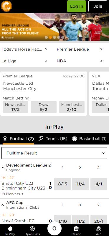 Casino.com sports mobile