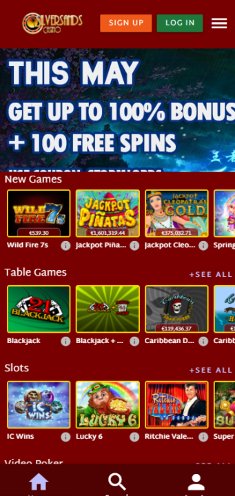 Silver Sands games mobile