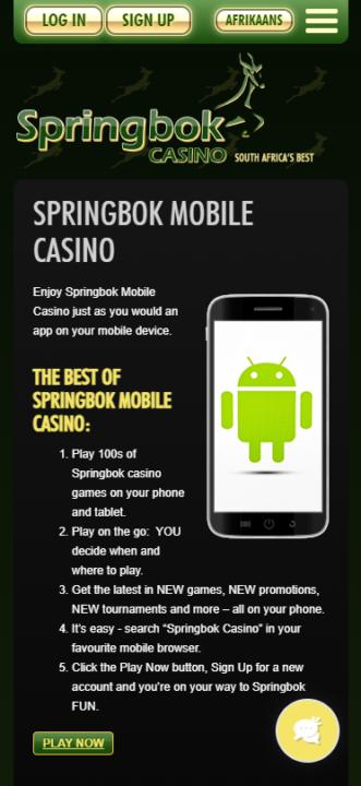 Springbok app mobile