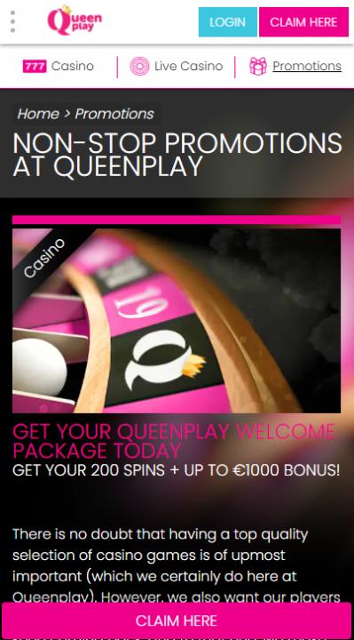 QueenPlay Promo Mob